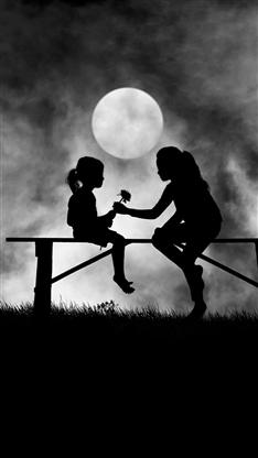 母亲节,唯美,月亮