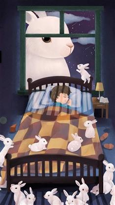可爱兔子卡通彩色