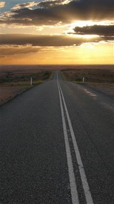 风景,唯美,公路,云,阳光,旅行,彩色