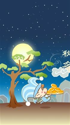 动漫,卡通,可爱,萌,中秋,节日,魔力课堂,彩色