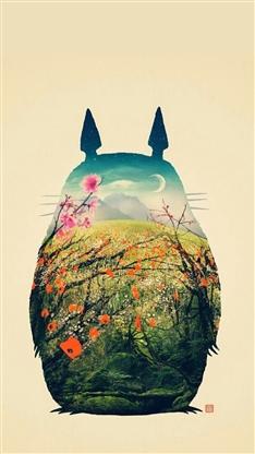 iphone6龙猫壁纸_iphone6手机龙猫壁纸