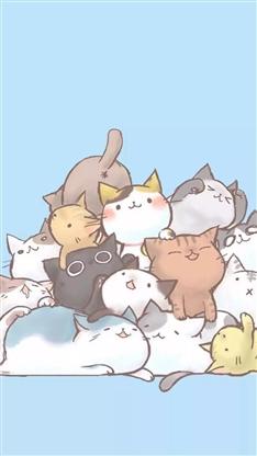 猫咪,动物,动漫,彩色