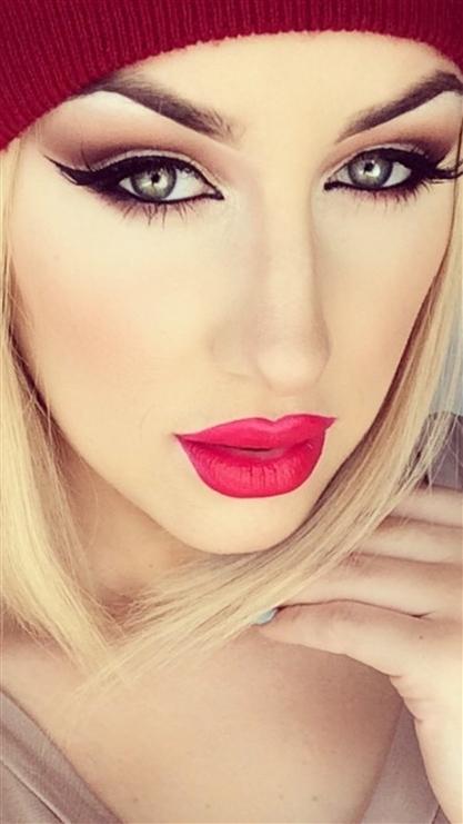 红唇,女人,欧美,美女
