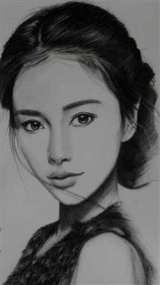 杨颖手绘图片素描图片