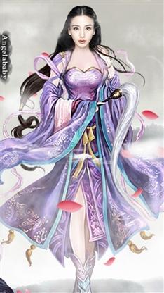 杨颖手绘彩色图片